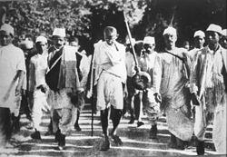 Gandhi on the Salt March